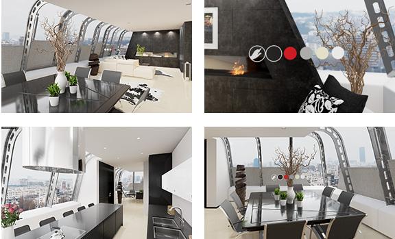 Apartamento en realidad virtual inmersiva