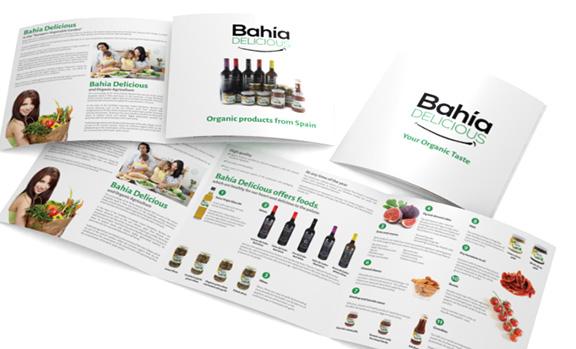 Imagen corporativa, fotografía de producto y catálogo para la marca Bahía Delicious
