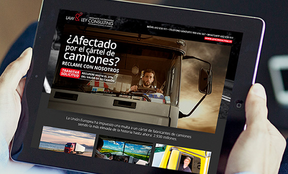 Campaña de adwords con landing pages para Law & Ley Consulting