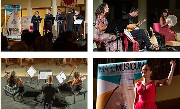 Imagen corporativa del festival de música antigua MareMusicum de Roquetas de Mar