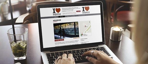 Pagina web I Love Roquetas desarrollada por DDinteractiva